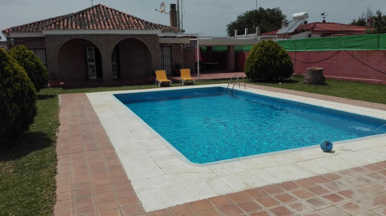Piscina dentro de la habitacion chalet con piscina y for Piscina ciudad jardin sevilla